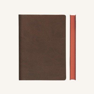 Signature kockás jegyzetfüzet - A5 , barna