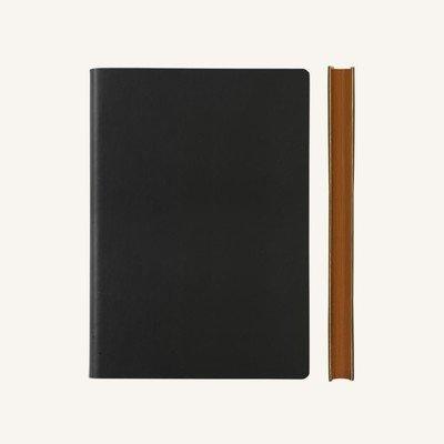 Signature sima üres lapos jegyzetfüzet - A5 , fekete