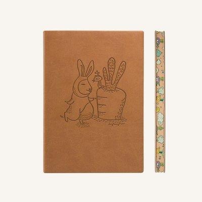 Signature Animaland sima üres lapos jegyzetfüzet - A5 , Nyúl