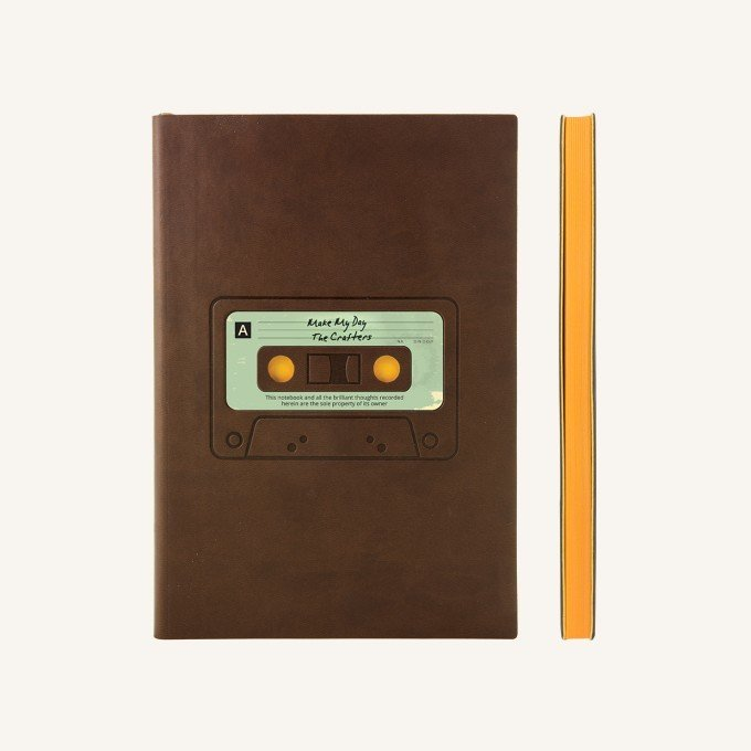 Signature Retro sima üres lapos jegyzetfüzet - A5 , kazetta