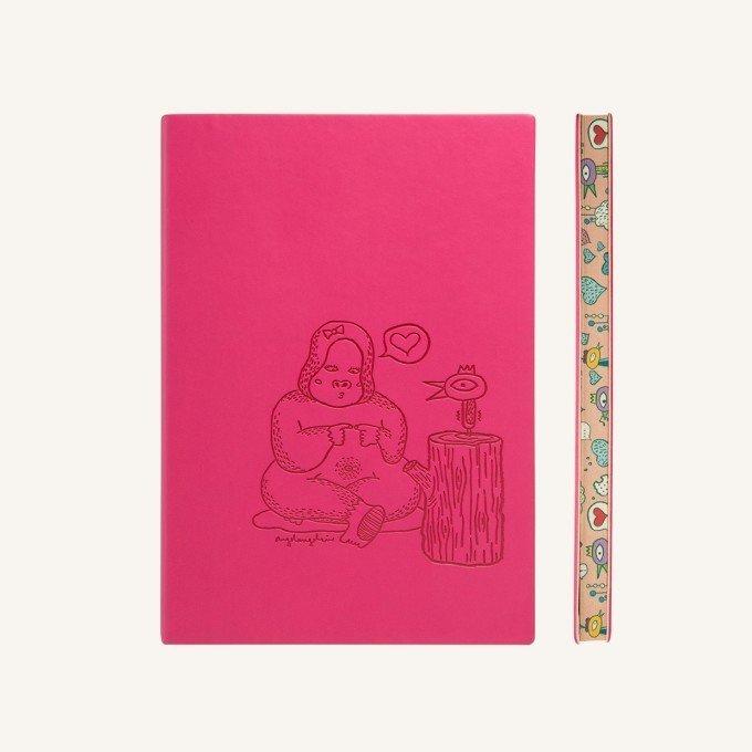 Signature Animaland sima üres lapos jegyzetfüzet - A5 , Gorilla