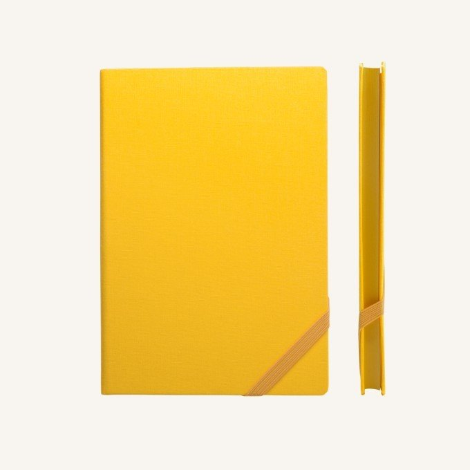 Make My Day vonalas jegyzetfüzet - A5 , sárga
