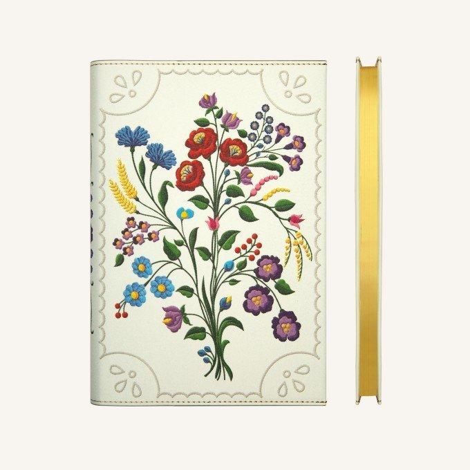 Flower Wow vonalas jegyzetfüzet - A5 , kalocsai ibolyák