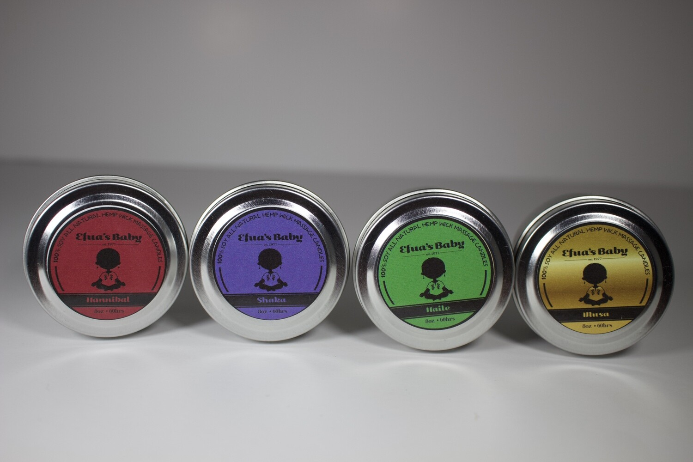 Sample Set 2oz Tin King Series Scent 4 Pack