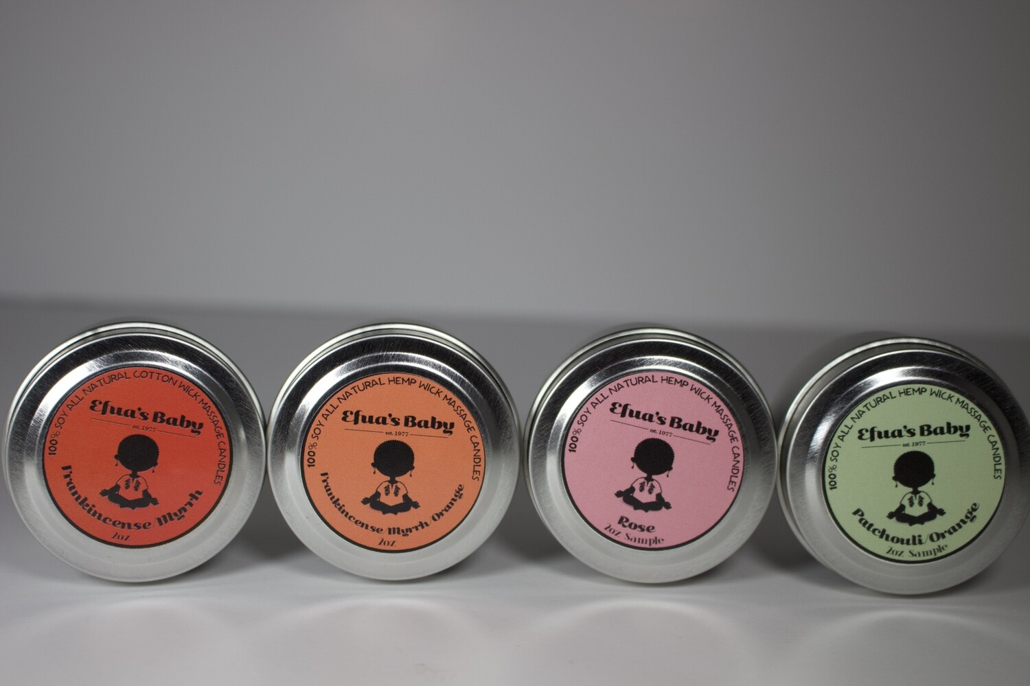 Sample Set 2oz Tin Classic Scent 4 Pack