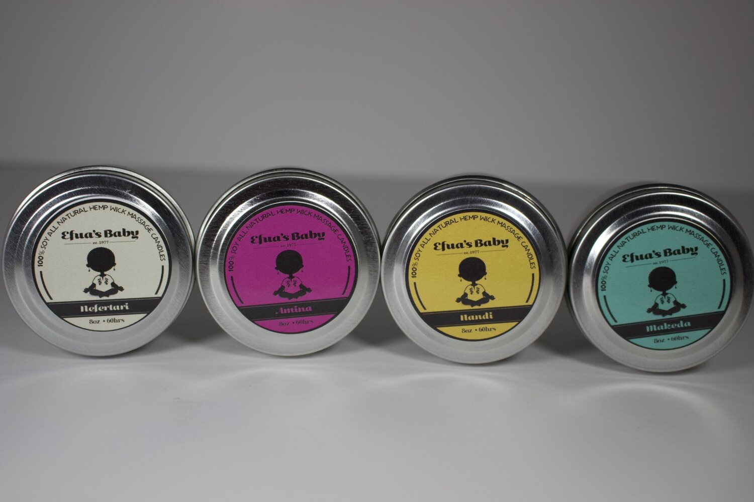 Sample Set 2oz Tin Queen Series Scent 4 Pack