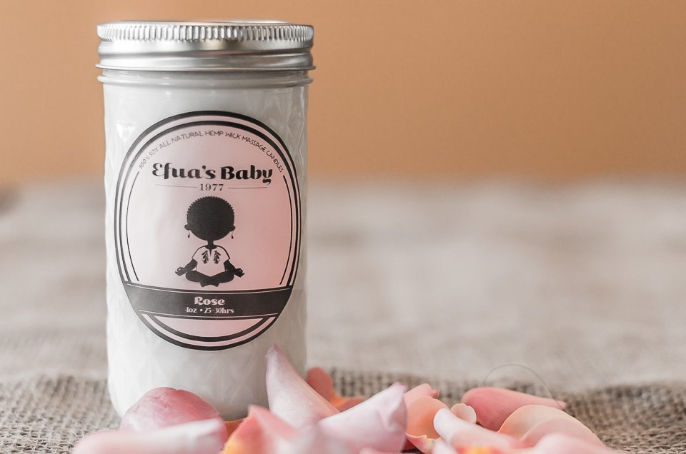 12oz Rose Soy Candle