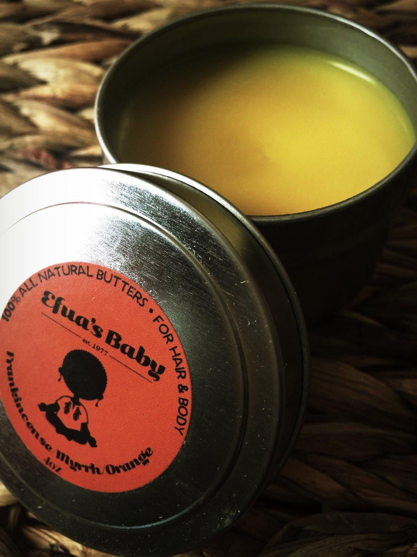 4oz Frankincense/Myrrh/Orange Hair & Body BUTTERS