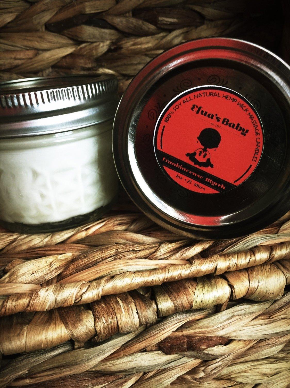 4oz Frankincense/Myrrh Soy Candle