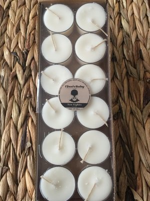 Unscented 12 Pack Soy Tea-lights
