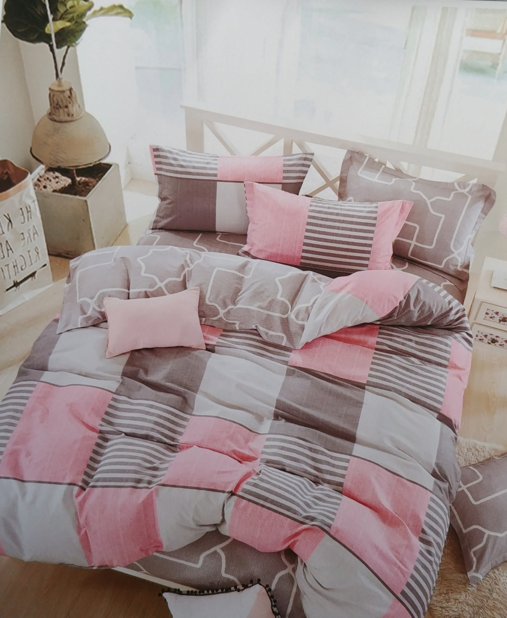 Bickford Home Grid Bedding Set BHG090