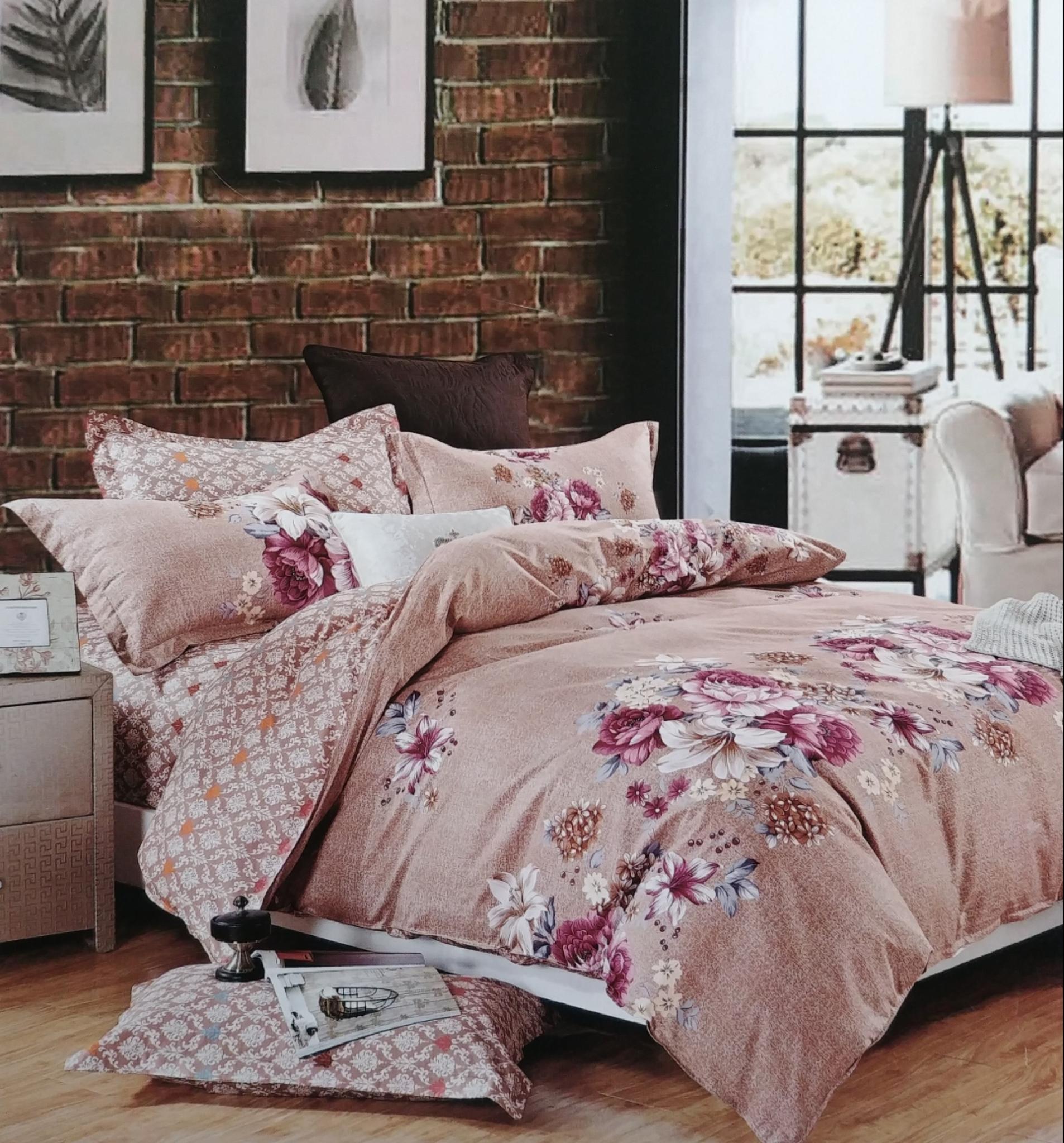 Crawford Red and Cream Stripe bedding set LRC890