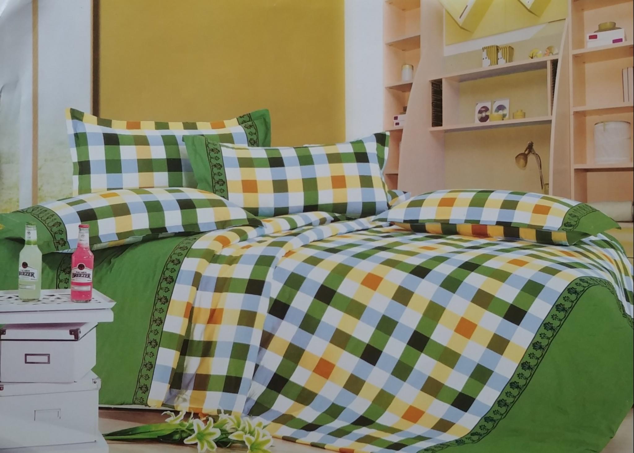 Lewis Orange and yellow stripe bedding set LOY875