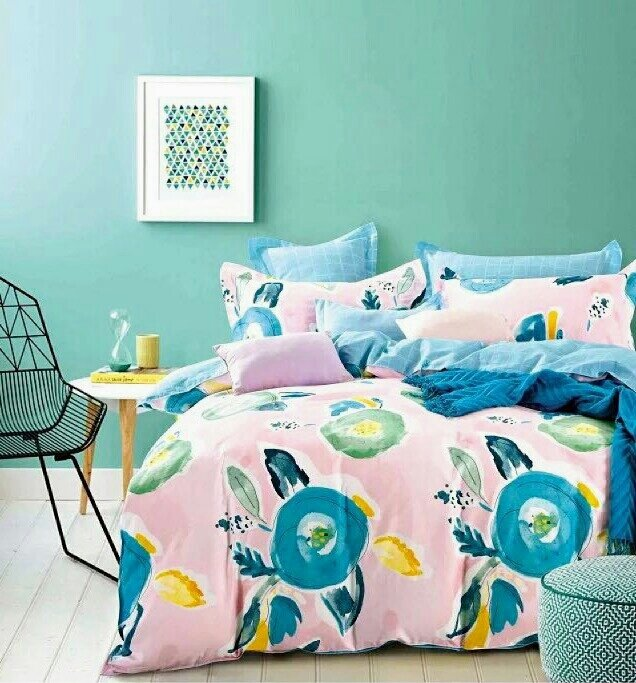 Painted leaf floral bedding set APF 900