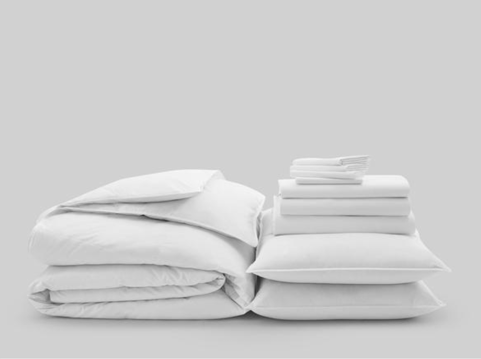 GRAND DELUXE  11 PIECE MOVE-IN-BUNDLE CLASSIC WHITE BEDSHEET SET