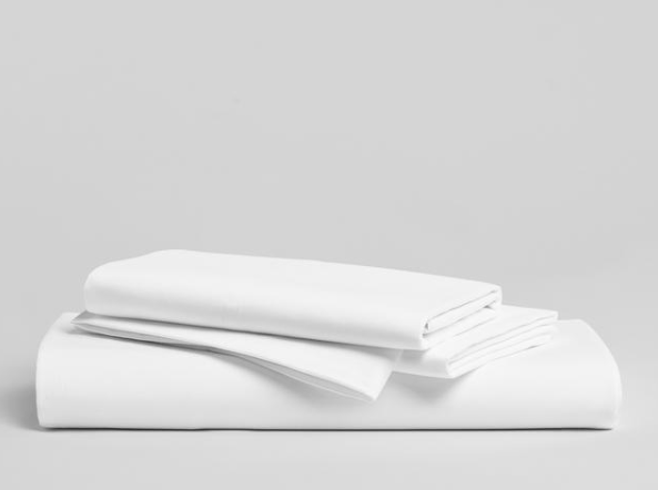 solid white bedsheet