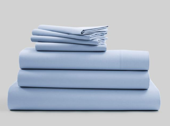 sky blue bedsheet
