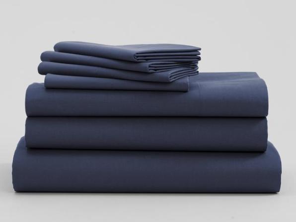 navy blue bedsheet