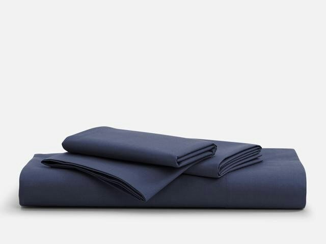 navy blue sheet set