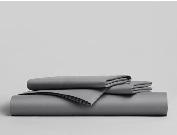 solid gray bedsheet