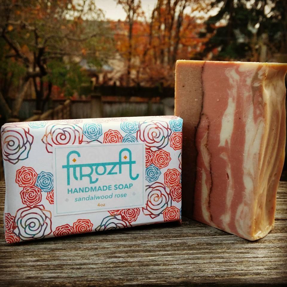 Sandalwood-Rose Handmade Soap