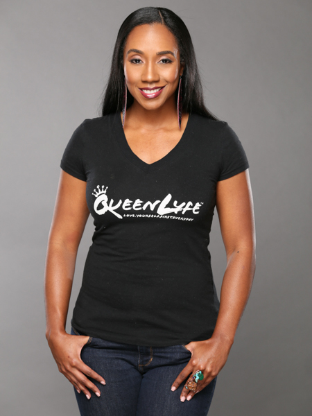 QueenLyfe Signature Black/White Royal Tee 0000003