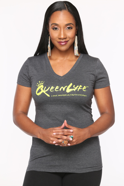 QueenLyfe Gray/Yellow Royal Tee 0000001