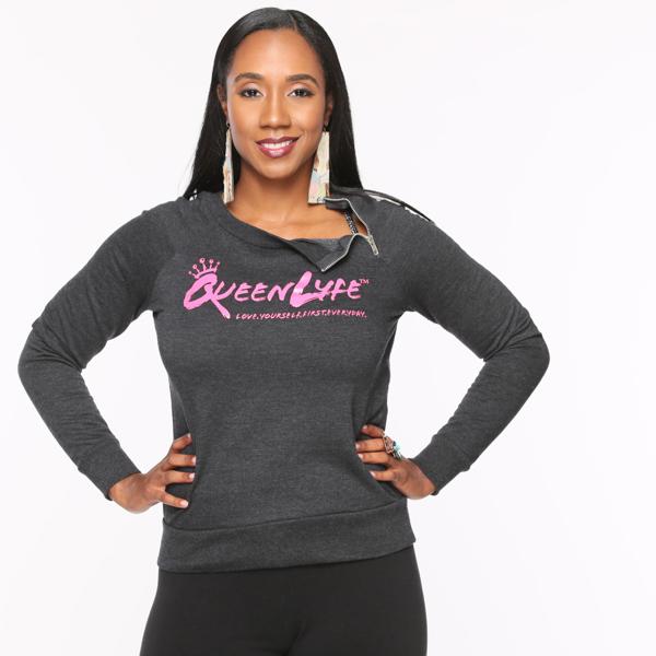 QueenLyfe Black/Pink Royalty Sweater 0000002