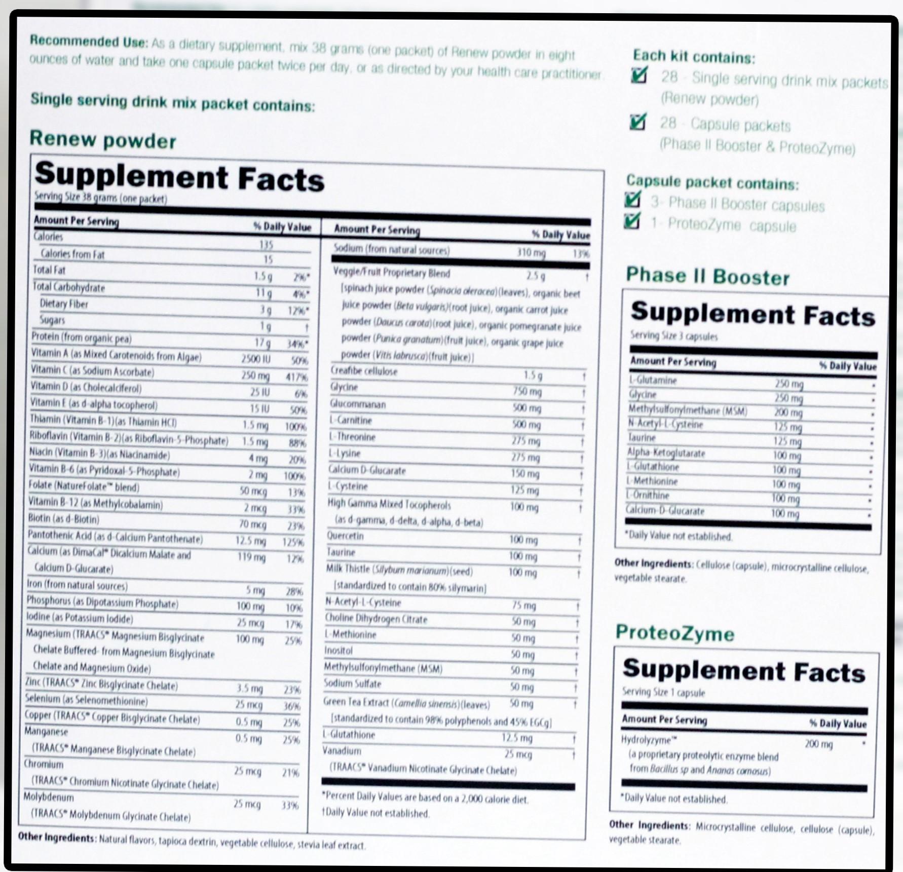 Renew 14 Day Detox Kit