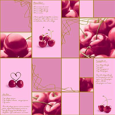 Вишенка. Обои для стен моющиеся. Виниловые на бумажной основе. Варианты цветов: бежевый, розовый, песочный, салатовый, желтый.