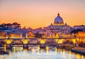 Рассвет над Римом. Фотообои достопримечательности. Размер: 291х204см.