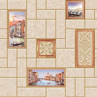 Венеция. Артикул: 587 270 ХХ. Обои для стен моющиеся. Виниловые на бумажной основе.