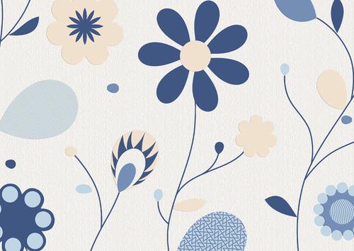 Делайт. Настенные обои с цветами. Виниловые на бумажной основе. Варианты цветов: бежево-синий, черно-белый,  сиреневый, бежевый, зеленый.