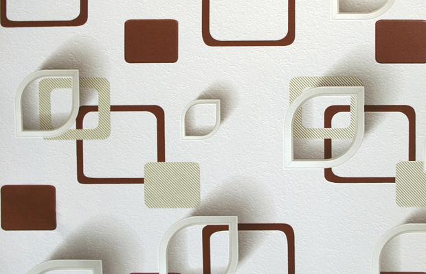 Геометрия. Артикул: 9690Х. Геометрия -фон. Артикул: 9700Х. Стильные обои в комнату на бумажной основе.