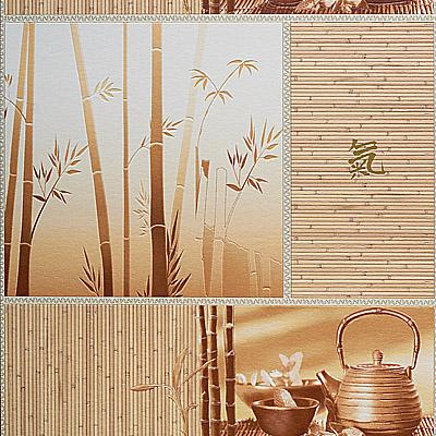 Бамбук. Моющиеся обои для кухни. Виниловые на бумажной основе. Варианты цветов: бежевый, желтый,зеленый