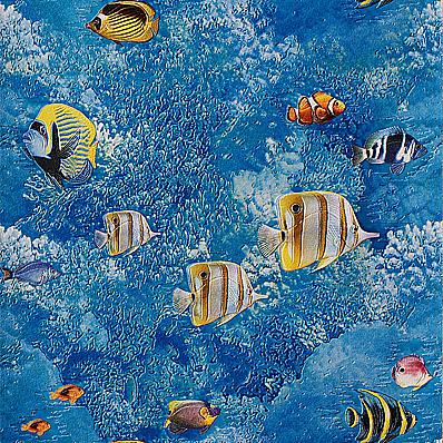 Океан. Влагостойкие обои для ванной. Варианты цветов:  синий, голубой.