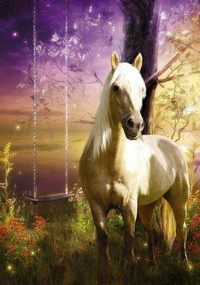 Блонди.  Фотообои, лошадь.  Размер: 136х194 см.