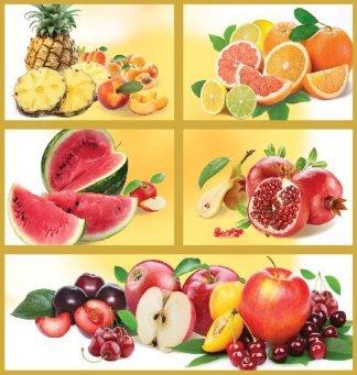 Фруктовое ассорти. Фотообои, фрукты. Размер: 194х204 см.