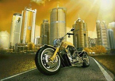 Моторевю.  Мотоциклы, фотообои. Размер: 194х136 см.