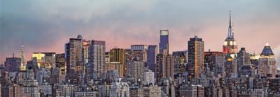 Артикул 370.Панорама Нью-Йорка. Готовые фотообои на стену. Размер: 366х127 см.