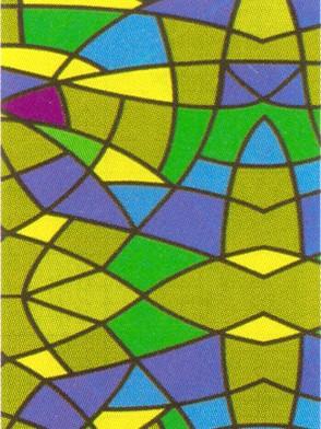 Артикул: 9033. Цветная витражная пленка. Hongda.  Размер: 0,45x8 м.