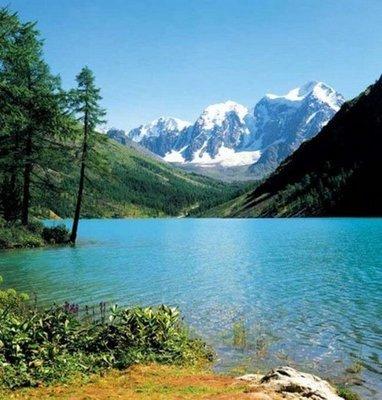 Горное озеро. Самые красивые фотообои. Размер: 204х194 см.