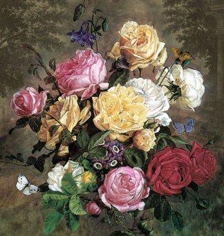 Букет роз. Фотообои, розы. Размер: 194х204 см.