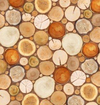 Деревянная мозайка. Фотообои. Размер: 194х204 см.