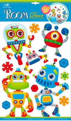 POA5302V. Наклейки детские на стены. Размеры: 29х41 см. Количество: 12 элементов. Материал: ПВХ, металлизированные, влагостойкие. Эффект 3D.