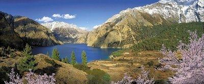 Горная панорама. Фотообои горы. Размер: 408х194 см