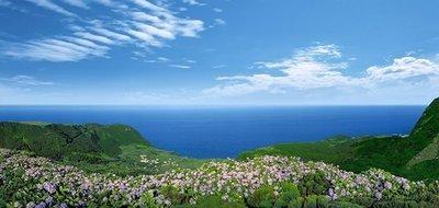 Морская панорама. Фотообои с видом моря. Размер: 408х194 см.