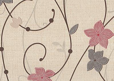 Маргаритки. Красивые настенные обои. Виниловые на бумажной основе. Варианты цветов: черно-красный, бежево-черный, розово-коричневый,  зеленый, бежевый.