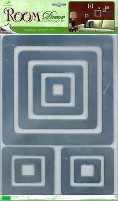 RСА.2705 V.Зеркальные квадраты. Зеркальные наклейки на стены. Размеры: 29*41 см. Количество: 8 элементов. Материал: ПВХ,зеркальная,объемная,влагостойкая.