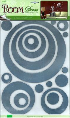 RСА.2703 V.Зеркальные круги. Зеркальные наклейки на стены. Размеры: 29*41 см. Количество: 17 элементов. Материал: ПВХ,зеркальная,объемная,влагостойкая.